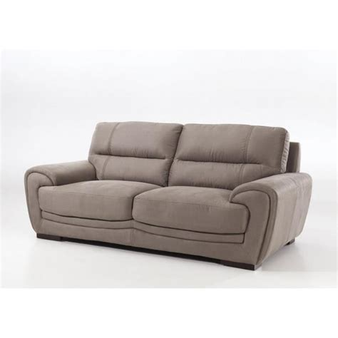 canapé 3 places fixe canap 233 fixe 3 places switsofa hammond tissu marron achat