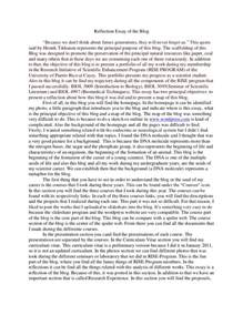 Self Essay Exles by Reflection Essay Of The