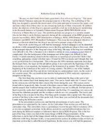 Writing A Reflection Essay by Reflection Essay Of The