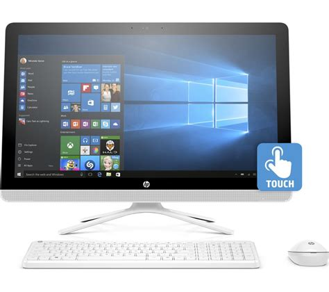 all in one computer desk hp 24 g085na 24 quot touchscreen all in one pc white deals