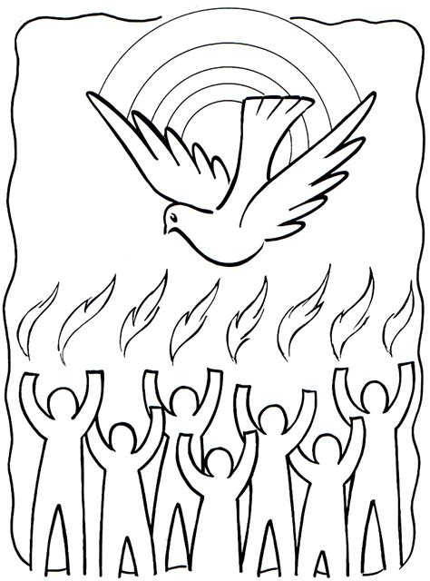coloring pages of the holy ghost tongues of fire coloring pages holy spirit pentecost