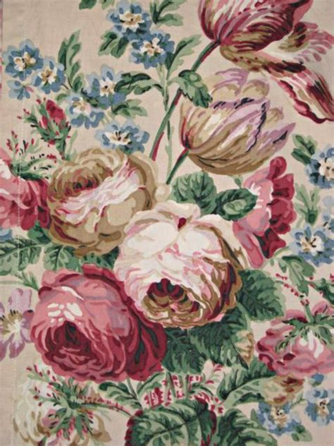 An Antique Notebook Cabbages Roses by 17 Best Images About Vintage Fabrics On