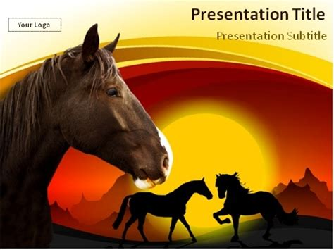 powerpoint themes horse download horses in the dark powerpoint template