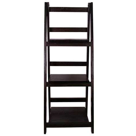 Jia Home 13 In X 36 In Wood Folding 3 Tier Ladder Folding Display Shelves