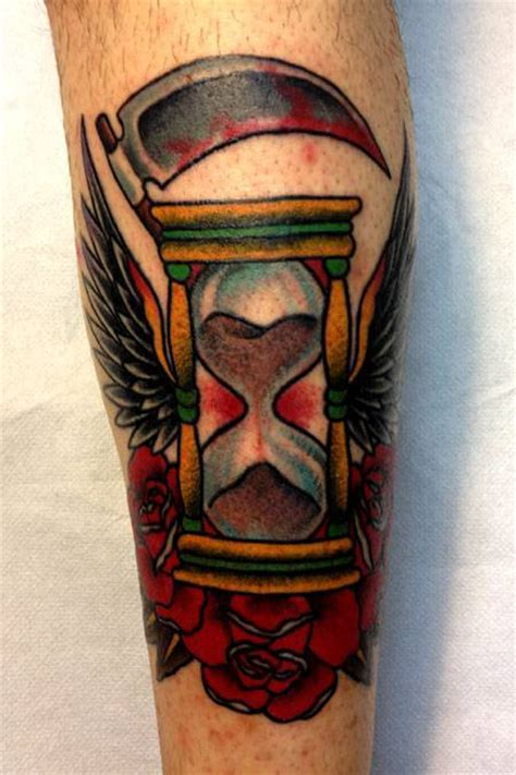 tattoo old school clessidra soulside tattoo tatuaggi roma western style tattoos