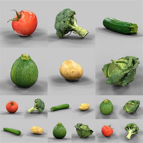 vegetables 3d max 6 vegetables 3d model