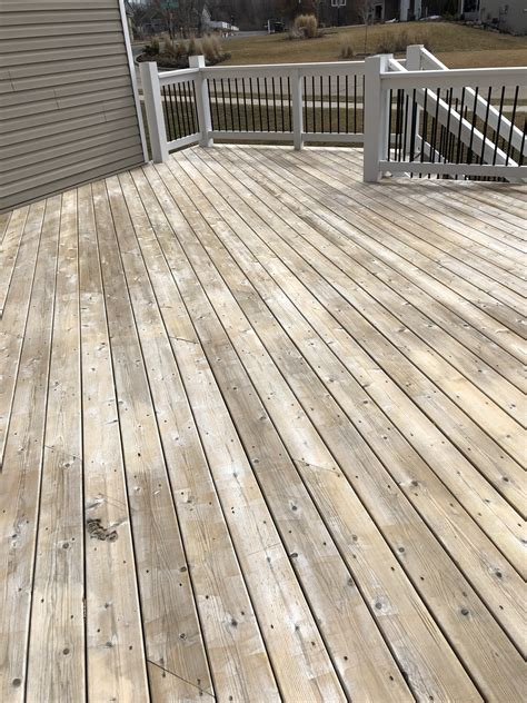 prepping  wood deck cleaning  deck stain