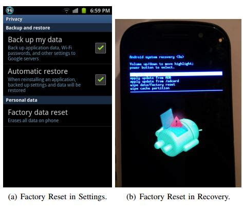 reset android id android factory reset fails to wipe sensitive user