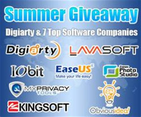 Best Software Giveaway Sites - digiarty launches summer giveaway with 7 top software companies from june 15
