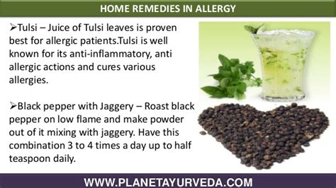 remedies for allergies ayurvedic treatment for allergies with home remedies