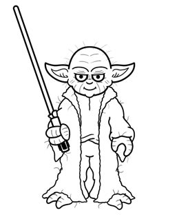 Yoda Drawing Outline by How To Draw Yoda From Wars