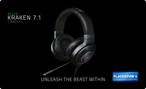 Headset Razer Kraken 7 1 Chroma razer kraken 7 1 chroma gaming headset surround sound gaming headset