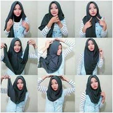Cara Memakai Jilbab Segi Empat Sederhana cara memakai jilbab segi empat simple dan sederhana