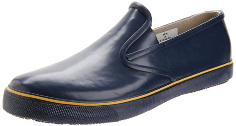 sperry top sider mens rubber slip on in blue for navy