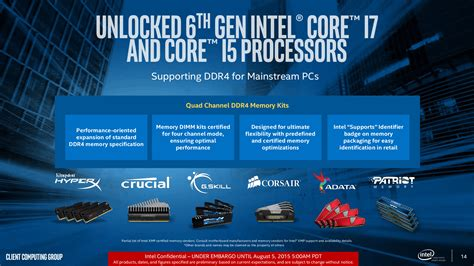 Pc Gaming High Speed I7 Skylake intel ddr3 ram can damage your intel skylake cpus