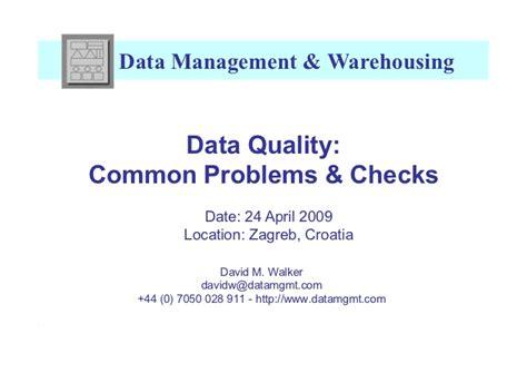 Background Check Problems Etis09 Data Quality Common Problems Checks Presentation