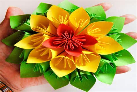 diy flor de papel estilo kusudama brotes de creatividad
