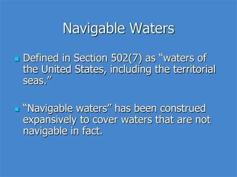clean water act section 301 ppt the clean water act and safe drinking water act