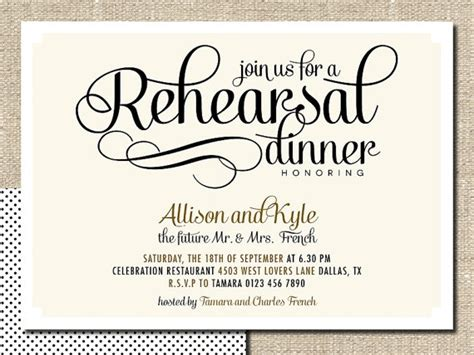 rehearsal dinner invitation template free wedding rehearsal dinner invitation diy printable