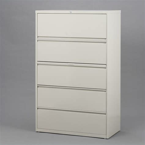 5 Drawer Lateral File Cabinet In Putty 15003 5 Drawer Lateral File Cabinet