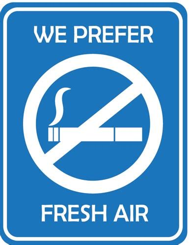 no smoking sign blue no smoking symbol vectors