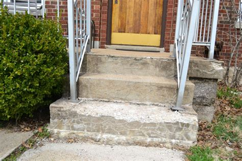 replacing  crumbling concrete porch steps lansdowne life