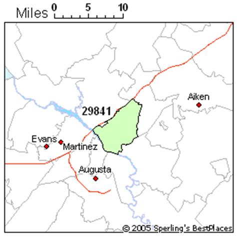 augusta zip code map best place to live in augusta zip 29841 south