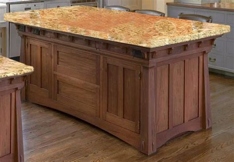 mission style kitchen island island craftsman style arts crafts kitchens