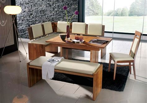 breakfast table bench modern bench style dining table set ideas homesfeed