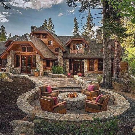 Rocky Mountain Log Homes Floor Plans 70 Outdoor Fireplace Designs For Men Cool Fire Pit Ideas