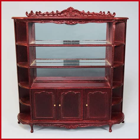 dollhouse 1980s dollhouse miniature china cabinet by bespaq late 1980s 1