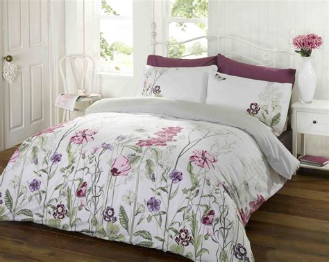 pink white duvet cover pillowcase duvet quilt cover bed
