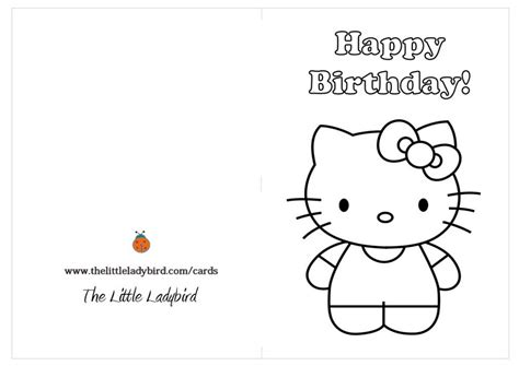 printable cat card template birthday greeting card hello 433389 171 coloring pages