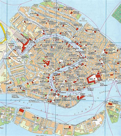 venice italy map map of venice