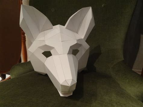 make your own fox mask from cardboard digital download
