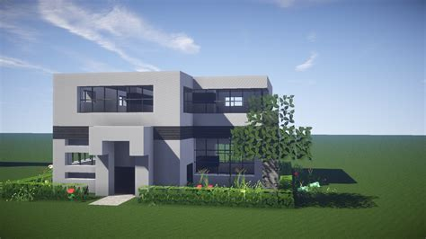 minecraft tutorial modern interior house design how to simple modern house idolza