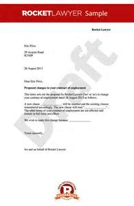 Amendment Letter To Agreement Employment Contract Amendment Letter Change To