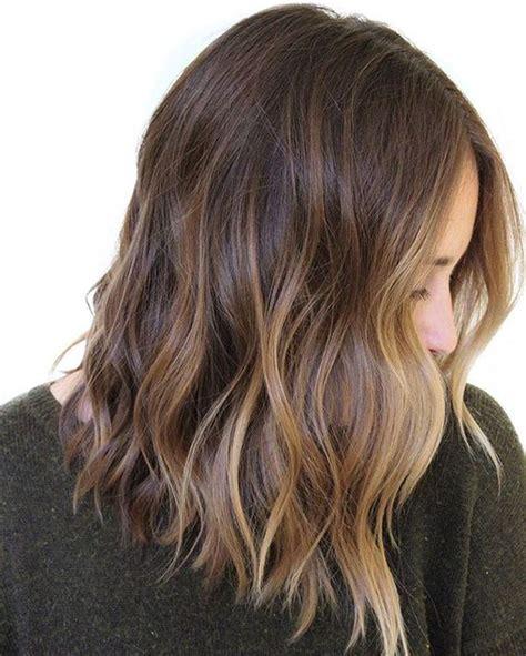 balayage on medium length hair 25 beautiful brown balayage hair with caramel colors