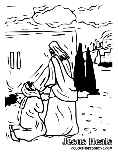 coloring page of jesus healing woman jesus free coloring pages for kids page 0 kids