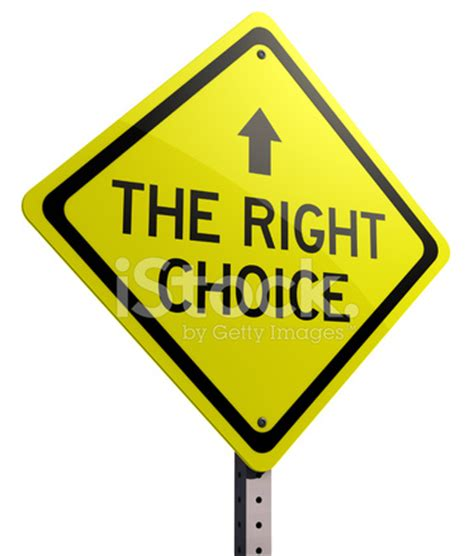 the right choice street sign stock photos freeimages.com