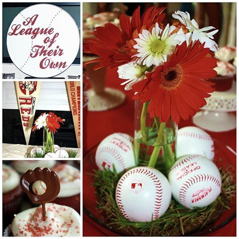 baseball wedding centerpieces baseball decorations bridal shower vintage baseball theme when where invites