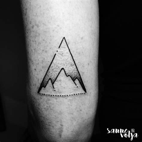 small triangle tattoo filter mountain triangle on the tricep