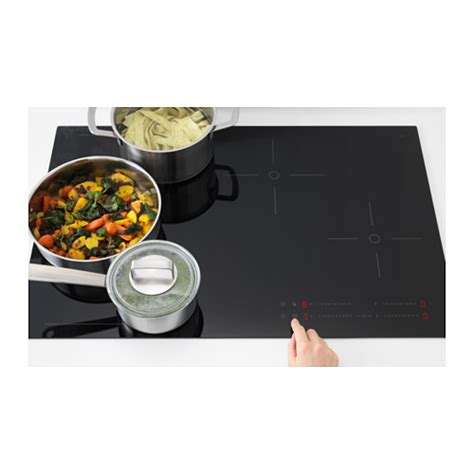 induction hob 5 year guarantee h 214 gklassig induction hob black 78 cm ikea