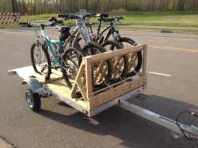 Trailer Bike Rack For Sale by Diy Bike Trailer Hitch Bike