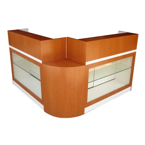 salon reception desk with glass display salon furniture reception desk model rd 55