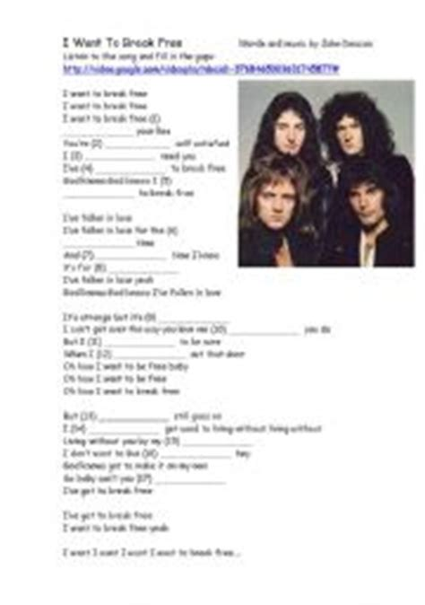 download mp3 queen i want to break free english teaching worksheets i want to break free