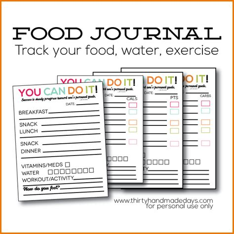 food and exercise journal template 7 food and exercise journal divorce document