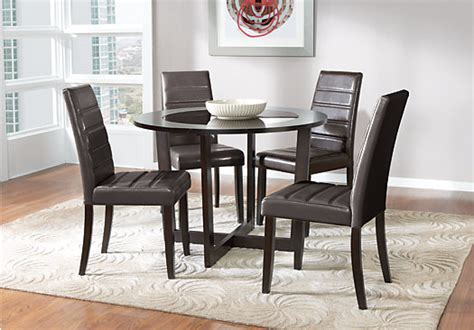 rooms to go outlet pr mabry espresso brown 5 pc dining set contemporary