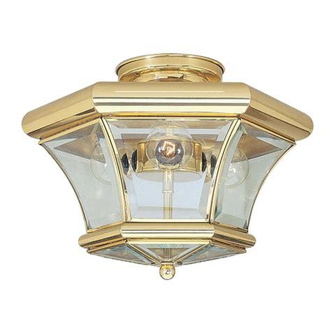 brass flush mount ceiling light beacon hill livex 3 light polished brass semi flush mount