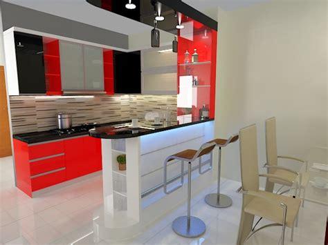 desain dapur minibar minimalis kitchen set limas kreasi mandiri